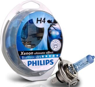Автолампа PHILIPS 12V 2 x H4 + 2 x W5W Blue Vision ultra